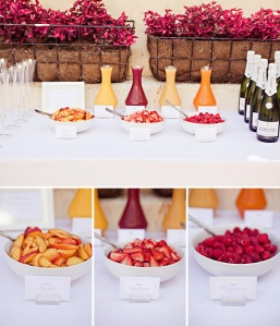 We thought about having a brunch wedding with a cool mimosa bar. Image via BlueBird Hill.